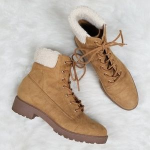 Forever 21 Shearling work boot
